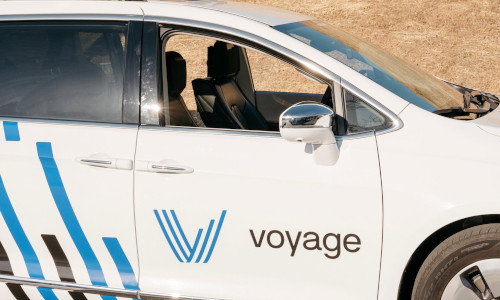 The Voyage self-driving car prototype.